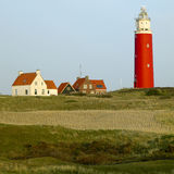 Lighthouse, De Cocksdorp. Lighthouse of De Cocksdorp, Texel Island, Netherlands Stock Image