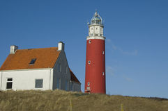 Lighthouse. De Cocksdorp, Texel Island, Netherlands Royalty Free Stock Photography