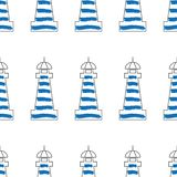 Lighthouse design vector illustration. Seamless lighthouse pattern vector illustration