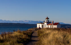 Lighthouse at Discovery stock photography