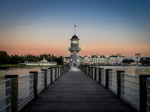 Lighthouse at the Disney Yacht Club Hotel Stock Photos