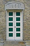 Lighthouse doors stock image