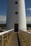 Lighthouse Doorway. Image of the Handrails leading up to the Doorway of the Cape Otway Lighthouse Royalty Free Stock Photos