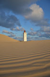 Lighthouse in dunes at Rubjerg Knude, Denmark Stock Photography