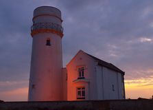 Lighthouse at Dusk stock photography