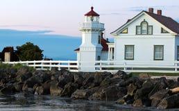 Lighthouse at dusk Stock Photos