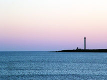 Lighthouse in the dusk Stock Images