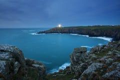 Lighthouse at dusk. Stock Photos
