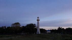 Lighthouse at dusk royalty free stock photo