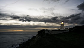 Lighthouse at Dusk stock photo