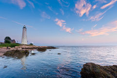 Lighthouse at Dusk Stock Photos