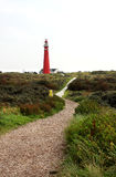 Lighthouse on Dutch island Royalty Free Stock Image