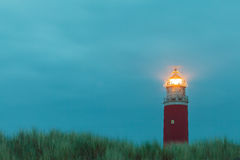 Lighthouse at the Dutch island of Texel Royalty Free Stock Image