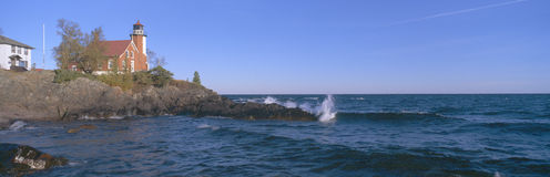 Lighthouse at Eagle Harbor Royalty Free Stock Photos