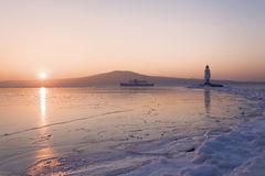 Lighthouse at East Bosfor strait Royalty Free Stock Photos