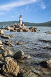 Lighthouse on the eastern coast of Russia Royalty Free Stock Photo