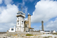 Lighthouse eckmuhl in brittany. Penmarch Royalty Free Stock Image
