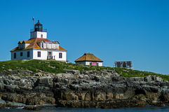 Lighthouse. Egg Rock lighthouse in the coastal waters in the Gulf of Maine Royalty Free Stock Image