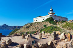 Lighthouse El Hoyo in Portman village, Spain Royalty Free Stock Images