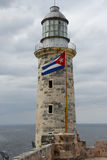 Lighthouse of El Morro castle at Havana. On Cuba Royalty Free Stock Image