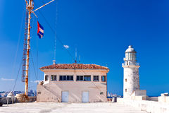 The lighthouse of El Morro in Havana Royalty Free Stock Images