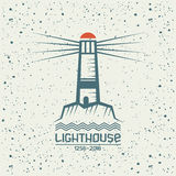 Lighthouse emblem Royalty Free Stock Image