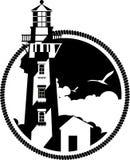 Lighthouse emblem Royalty Free Stock Images