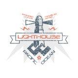 Lighthouse emblem Stock Photo