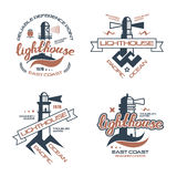 Lighthouse emblem  for t-shirt Stock Photography