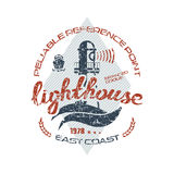 Lighthouse emblem  for t-shirt Royalty Free Stock Photo
