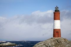 The Lighthouse at the End of the World in Beagle Channel, Argentina Royalty Free Stock Photo