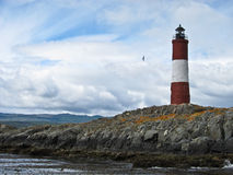 Lighthouse at the End of the World. The lighthouse in the Beagle Channel in Teirra Del Fuego, Argentina Royalty Free Stock Photos