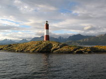 The lighthouse at the end of the world royalty free stock photo