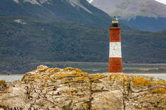 Lighthouse in the End of the World Royalty Free Stock Image