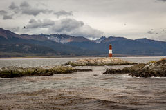 Lighthouse in the End of the World Royalty Free Stock Images