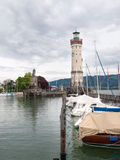 The Lighthouse at the entrance of Marina Royalty Free Stock Images