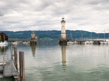 The Lighthouse at the entrance of Marina Stock Photos