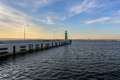 Lighthouse, entrance to the harbor, Gdansk, Poland Royalty Free Stock Photo