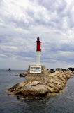 Lighthouse entrance to the port of Bandol Stock Photos