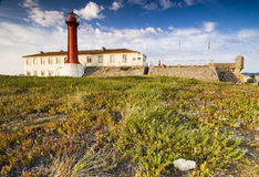 Lighthouse in Esposende, Northern Portugal royalty free stock photography