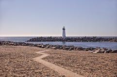 Lighthouse on Estuary Stock Images