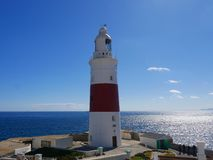 The lighthouse at Europa Point is the first or the last Lighthouse in Europe Stock Photography