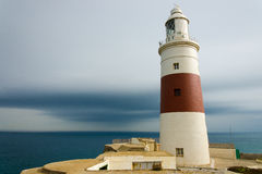 The lighthouse at Europe Point Royalty Free Stock Images