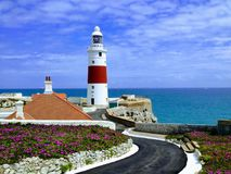 Lighthouse at Europe point, Gibraltar stock photos