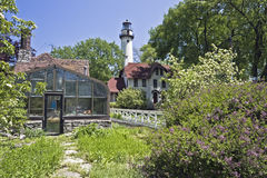 Lighthouse in Evanston, IL. Royalty Free Stock Photography