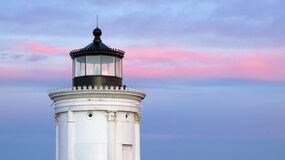 Lighthouse in the Evening Stock Image
