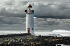 Lighthouse at evening at Port Fairy, Australia Royalty Free Stock Photo