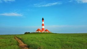 Lighthouse at evening royalty free stock photos