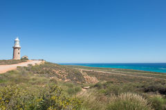 Lighthouse Exmouth Cape Range Australia. Panoramic lookout view along coast of Ningaloo Reef, Cape Range National Park, Exmouth, Western Australia, with Vlamigh Stock Photos