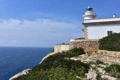 Lighthouse Far de Cap Blanc,Mallorca Stock Image